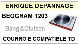 BANG OLUFSEN<br> BEOGRAM 1203 TYPE 5243  Courroie (round belt) Tourne-disques <BR><small>sc 2015-04</small>