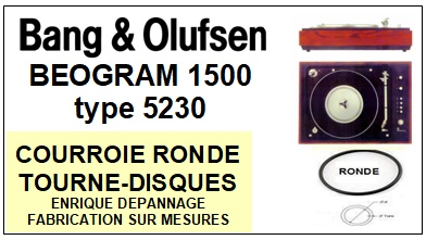 BANG OLUFSEN  BEOGRAM 1500  TYPE 5230  Courroie Compatible Tourne-disques