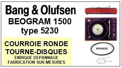 BANG OLUFSEN-BEOGRAM 1500 TYPE 5230-COURROIES-ET-KITS-COURROIES-COMPATIBLES