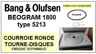 BANG OLUFSEN-BEOGRAM 1800 TYPE 5213-COURROIES-ET-KITS-COURROIES-COMPATIBLES