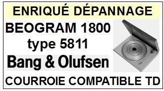 BANG OLUFSEN-BEOGRAM 1800 TYPE 5811-COURROIES-ET-KITS-COURROIES-COMPATIBLES