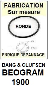 BANG OLUFSEN<br> BEOGRAM 1900 Courroie (round belt) Tourne-disques<small> 2015-04</small>