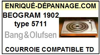 BANG OLUFSEN BEOGRAM 1902 TYPE 5711  Courroie Compatible Tourne-disques