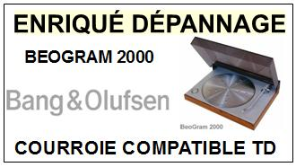 BANG OLUFSEN BEOGRAM 2000  Courroie Tourne-disques <BR><small>a 2014-01</small>