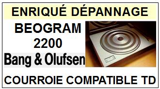 BANG OLUFSEN <br>BEOGRAM 2200  Courroie Tourne-disques <BR><small>a 2014-09</small>