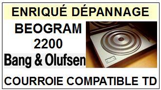 BANG OLUFSEN-BEOGRAM 2200-COURROIES-ET-KITS-COURROIES-COMPATIBLES