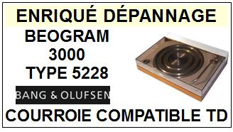 BANG OLUFSEN BEOGRAM 3000 TYPE 5528  Courroie Tourne-disques <BR><small>sce 2014-06</small>