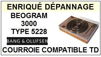 BANG OLUFSEN-BEOGRAM 3000 TYPE 5528-COURROIES-ET-KITS-COURROIES-COMPATIBLES
