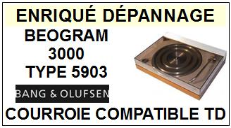 BANG OLUFSEN BEOGRAM 3000 TYPE 5903  Courroie Compatible Tourne-disques