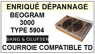 BANG OLUFSEN  BEOGRAM 3000 TYPE 5904    Courroie Compatible Tourne-disques