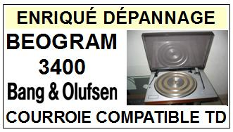 BANG OLUFSEN BEOGRAM 3400  Courroie Tourne-disques <small>13-11</small>
