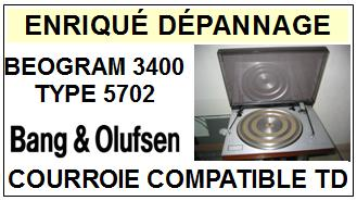 BANG OLUFSEN-BEOGRAM 3400 TYPE 5302-COURROIES-ET-KITS-COURROIES-COMPATIBLES