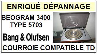 BANG OLUFSEN-BEOGRAM 3400 TYPE 5303-COURROIES-ET-KITS-COURROIES-COMPATIBLES