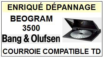 BANG OLUFSEN-BEOGRAM 3500-COURROIES-ET-KITS-COURROIES-COMPATIBLES