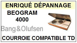BANG OLUFSEN<br> BEOGRAM 4000 courroie (flat belt) pour tourne-disques <BR><small>a 2015-07</small>
