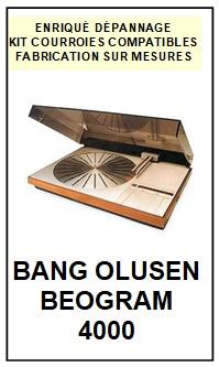 BANG OLUFSEN-BEOGRAM 4000 TYPE 5215-COURROIES-ET-KITS-COURROIES-COMPATIBLES