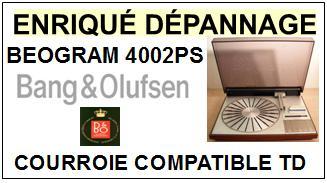 BANG OLUFSEN-BEOGRAM 4002PS-COURROIES-ET-KITS-COURROIES-COMPATIBLES