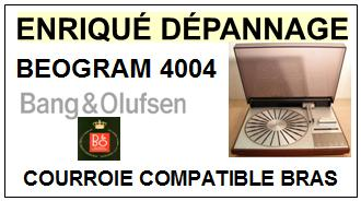 BANG OLUFSEN BEOGRAM 4004 <br> Courroie pour Bras Tangentiel (square belt)<SMALL> 2015-12</small>