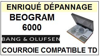 BANG OLUFSEN-BEOGRAM 6000-COURROIES-ET-KITS-COURROIES-COMPATIBLES