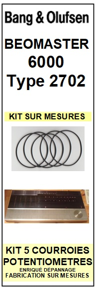 BANG OLUFSEN-BEOMASTER 6000 TYPE 2702-COURROIES-ET-KITS-COURROIES-COMPATIBLES