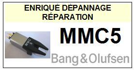 BANG OLUFSEN CELLULE  MMC5    Réparation : échange cantilever alu et pose  Diamant Elliptique