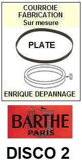 BARTHE-DISCO 2-COURROIES-ET-KITS-COURROIES-COMPATIBLES