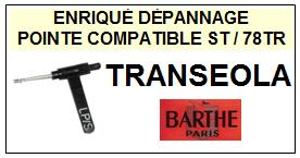 BARTHE platine TRANSEOLA  Pointe Diamants réversibles (stéréo/78tr ) <br><small>st/st/78tr 2014-08</small>