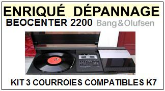 BANG OLUFSEN BEOCENTER 2200  kit 3 Courroies Compatibles Platine K7
