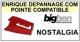 BIGBEN <br>Platine NOSTALGIA  Pointe diamant sphérique <BR><small>se 2014-10</small>