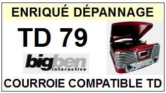 BIGBEN-TD79 INTERACTIVE-COURROIES-ET-KITS-COURROIES-COMPATIBLES
