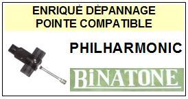 BINATONE Platine  PHILHARMONIC    Pointe de lecture Compatible saphir sphérique