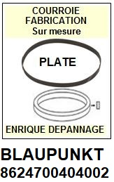 BLAUPUNKT 8624700404002 8624700404-002 <br>courroie plate référence blaupunkt (<B>flat belt manufacturer number</B>)<small> 2017 NOVEMBRE</small>