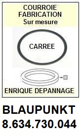 BLAUPUNKT 8634730044 8.634.730.044 <BR>Courroie carrée référence blaupunkt (<B>square belt</B> manufacturer number)<small> 2017 NOVEMBRE</small>