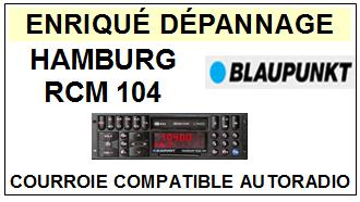 BLAUPUNKT-HAMBURG RCM104-COURROIES-ET-KITS-COURROIES-COMPATIBLES