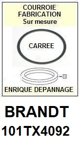 BRANDT 101TX4092  <BR>Courroie carrée référence brandt (<B>square belt</B> manufacturer number)<small> 2018 JANVIER</small>