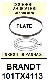 BRANDT 101TX4113  <br>courroie plate référence brandt (<B>flat belt manufacturer number</B>)<small> 2018 JANVIER</small>