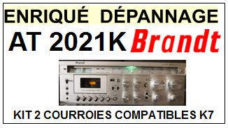 BRANDT AT2021K AT 2021 K kit 3 Courroies Platine K7 <br><small>a 2014-02</small>