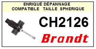 BRANDT<br> CH2126 Pointe (stylus) sphérique pour tourne-disques<SMALL> 2015-09</SMALL>