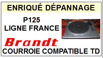 BRANDT-LIGNE FRANCE P125-COURROIES-ET-KITS-COURROIES-COMPATIBLES