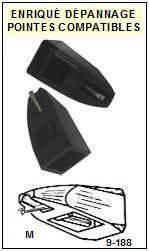 BRANDT Platine LIGNE FRANCE P125  Pointe diamant elliptique <BR><small>sce 2014-07</small>