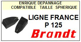 BRANDT LIGNE FRANCE P125 <BR>Pointe diamant sphérique pour tourne-disques (stylus)<small> 2015-10</small>