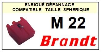 BRANDT M22  <br>Pointe Diamant sphérique (stylus)<small> 2015-12</small>