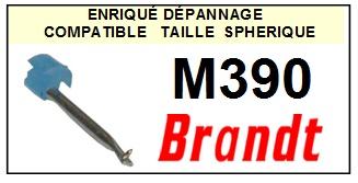 BRANDT M390  <br>Pointe diamant sphérique pour tourne-disques (stylus)<SMALL> 2015-11</SMALL>
