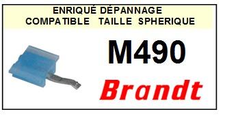 BRANDT<br> M490 Pointe (stylus) sphérique pour tourne-disques<SMALL> 2015-09</SMALL>