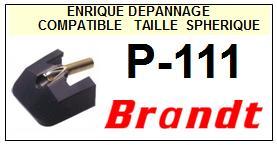 BRANDT Platine P111 P-111 Pointe diamant sphérique <BR><small>sce 13-12</small>