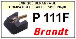 BRANDT<br> P111F Pointe (stylus) sphérique pour tourne-disques <BR><small>sce 2015-08</small>