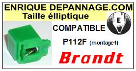 BRANDT <br>Platine P112F (1°montage) Pointe diamant elliptique <BR><small>sce(1&2) 2014-10</small>