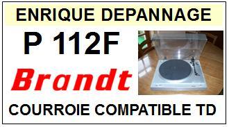 BRANDT P112F <br>Courroie plate d\'entrainement pour Tourne-disques (<b>flat belt</b>)<small> 2016-01</small>