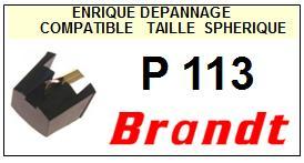 BRANDT Platine P113 P-113 Pointe diamant sphérique <BR><small>a 2014-01</small>
