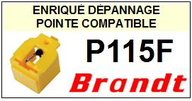 BRANDT<br> P115F Pointe sphérique pour tourne-disques <BR><small>sce 2015-02</small>